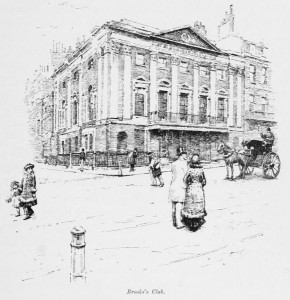 Brooks Club, London, one of the oldest gentlemen's clubs in England. Image: Hatton 1890: