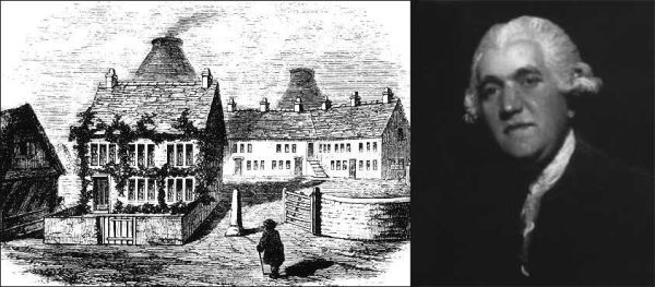 Sketch of Josiah Wedgwood's first pottery factory in