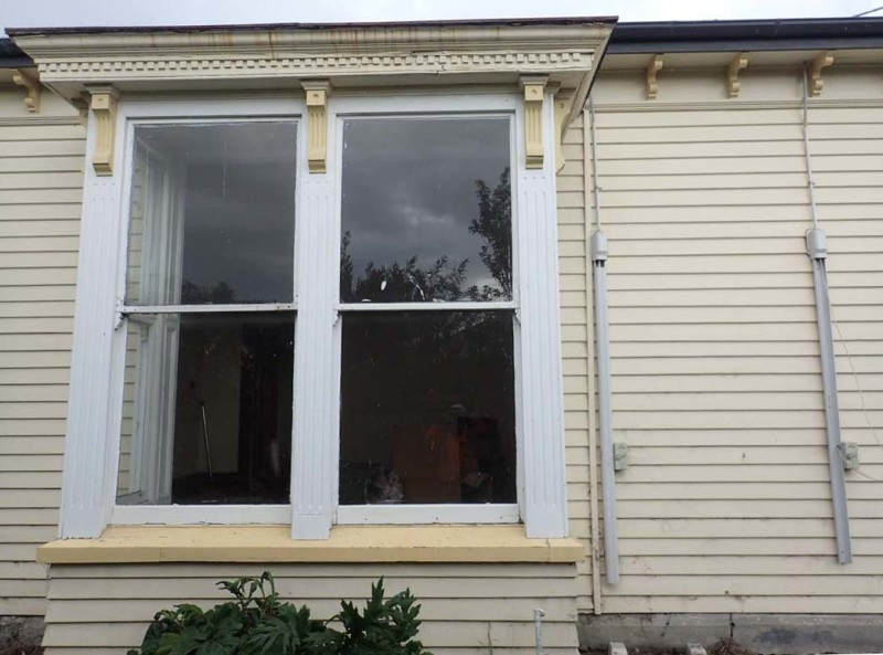 2.Bay window on the east elevation. Identical bay windows have been found on other houses suggesting that they were available pre-built or as a kitset (not sure of wording for this).