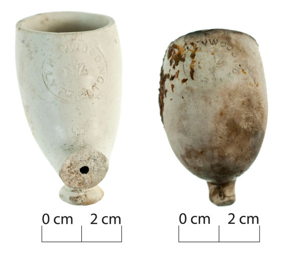 A close up of the Heywood / Lyttelton mark found on the pipes. Image: J. Garland.